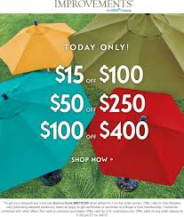 Improvements Coupons - $15 Off $100 & More Online Today