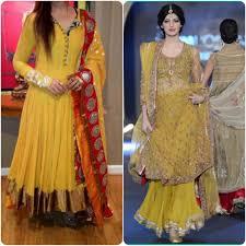 Asian Bridal Mehndi Dresses Designs For Girls 2016 2017styloplanet 4