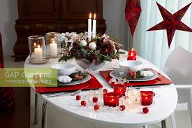 Dinner Table With Christmas Arrangement