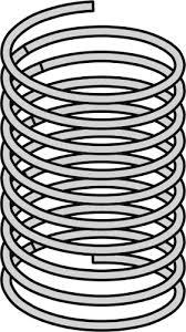 Metal Spring Vector Drawing
