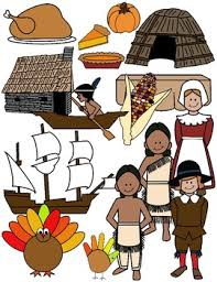 Thanksgiving Clip Art Color And Black White