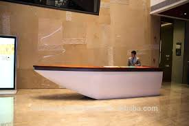 Modern Front Desk Spa Reception Furniture Glamorous Artificial Stone Counter Hotel