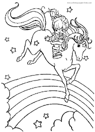 Rainbow Brite Color Page Cartoon Characters Coloring Pages Plate Sheetprintable