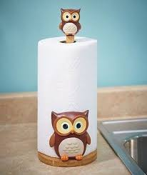3D Owl Kitchen Paper Towel Holder Bird Decor