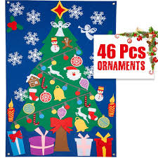 Amazoncom DIY Felt Christmas Tree Set For KidsToddlersChildren