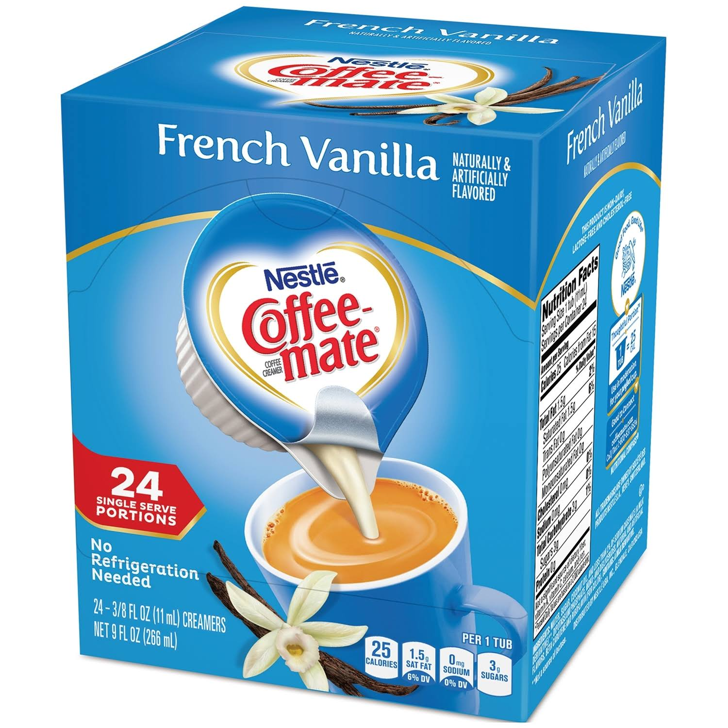 Nestle Coffee Mate Coffee Creamer - French Vanilla, 3/8oz, 24ct