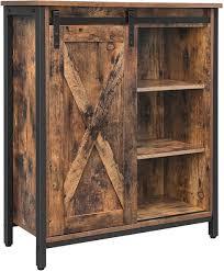 küchenschrank sideboard kommode schiebetür regalebenen industrie design vintagebraun schwarz