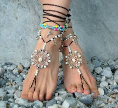 Barefoot Sandals Beach Jewelry Shoes Hippie Foot Festival Accessories