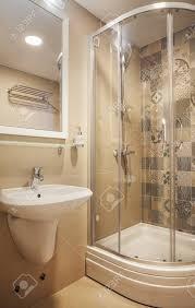 interior of a small hotel bathroom modern design