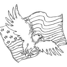 Patriotic Coloring Pages American Bald Eagle