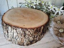 White Oak Wood Rustic Cake Cupcake Stand Centerpiece Wedding Live Edge 12 14 X5