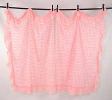 Pink Ruffled Window Curtains by Unbranded Checked Curtains Drapes U0026 Valances Ebay