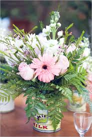 Rustic Flower Vase With Ferns