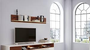 interliving wohnzimmer serie 2102 wandregal mit beleuchtung dunkles asteiche furnier länge ca 176 cm