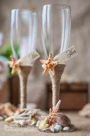 Beach Champagne Flutes Wedding Mr And Mrs
