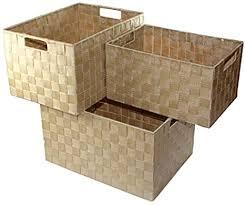 unbekannt aufbewahrungsbox 3er set badezimmer kiste korb geflochten kiste kosmetik box farbe beige