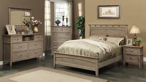 south beach queen size bed in weathered oak Modern Bedroom