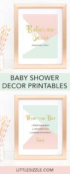 Pink Mint Gold Baby Shower Decor Pack Printable