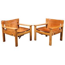 Equipale Chairs Los Angeles by Leather And Wood Spanish Style Chairs Saddle Leather At 1stdibs