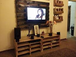 Impressive Entertainment Center With Tv Mount TV Cabinet Made Pallets Designs