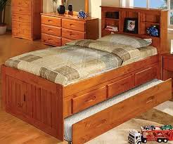 discovery world furniture Honey Twin size Bookcase Captains Bed