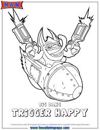 Skylanders Swap Force Tech Big Bang Trigger Happy Coloring Page