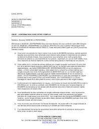 periode d essai cadre lettre de confirmation des clauses d un contrat de travail