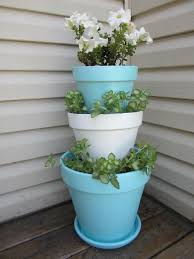 Stacked Flower Pots I Wish Could Make This