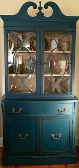 vintage 1940 s china cabinet painted up only furniture