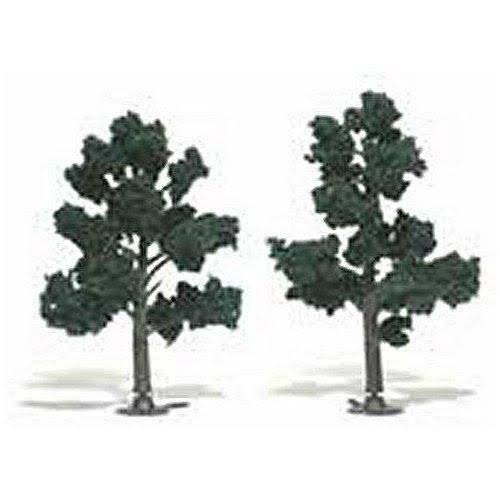 Woodland Scenics Assembled Tree Train Scenery - Dark Green, 6""