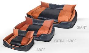 Extra Large Orthopedic Dog Bed by New Launch Sale Pls Deluxe Lounger Faux Leather Bolster Pet Bed