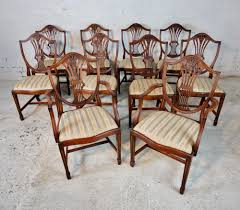 Set Of Ten Hepplewhite Style Dining Chairs 4 Hepplewhite Style Mahogany Yellow Floral Upholstered Ding Chairs Style Ding Table And Chairs Pair George Iii Mahogany Armchairs Antique Set Of 8 English Georgian 12 19th Century Elegant Mellow Edwardian Design Antiques World 79 Off Wood Hogan Side Chair Eight Late 18th Of