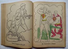 Above Superman Coloring Book 1965