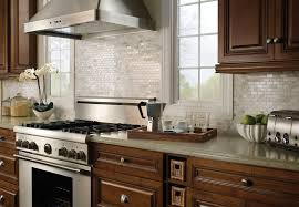 Dark Cabinets White Backsplash Kitchen Traditional With Decor