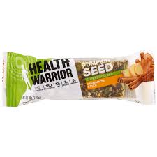 Go Raw Pumpkin Seeds Green by Health Warrior Inc Pumpkin Seed Superfood Bar Cinnamon Spice
