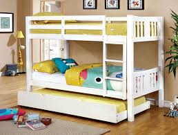 American Freight Bunk Beds by Buy Furniture Of America Cm Bk929wh Cameron White Twin Twin Bunk