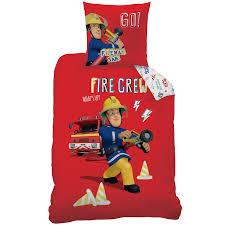 housse couette buzz l eclair sam le pompier parure de lit housse de couette 140x200