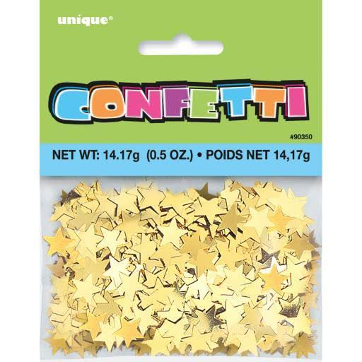Unique Gold Star Confetti