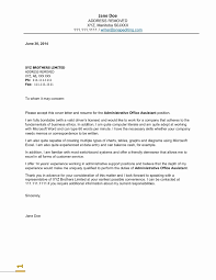 Sample Resume Cover Letter For Administrative Assistant Save Examples Valid Best