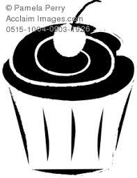 0515 1004 0903 1926 line drawing cupcake