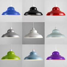 Diy Punched Tin Lamp Shade by Metal Lamp Shades Vintage Metal Pendant Lampshade Primrose U0026 Plum