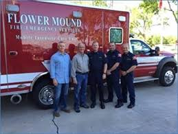 Oglesbee With Firefighters John Takes Ice Cream To The Flower Mound
