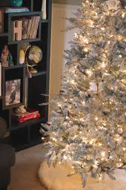 Flocked Christmas Tree Walmart by Diy Flocked Christmas Tree Christmas Lights Decoration