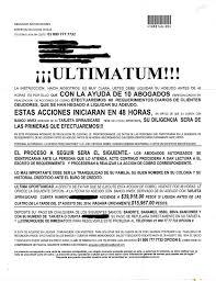 Carta Amenazante De Despacho De Cobranza