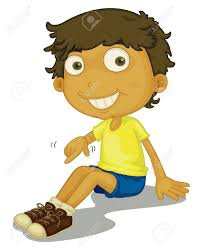 Illustration Boy Putting Shoes Royalty Free Cliparts