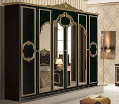 bellaa kleiderschrank 6 trg barock gold schwarz
