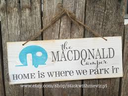TRAVEL Trailer Sign Signs Personalized