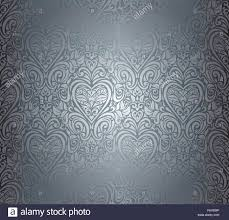 Silver Luxury Vintage Seamless Floral Background Design