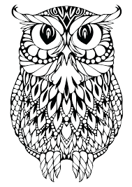 Coloring Pages Owls Book Design Kids Online For Adults Only Christmas To Print Pinterest Full