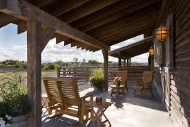 Barn Wood Furniture Patio Rustic With Wall Lighting